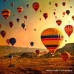 Hot Air Balloons Soaring Over Cappadocia Turkey