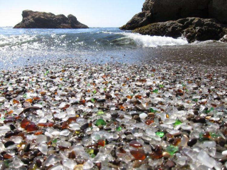 Sparkling Glass Beach of California 13