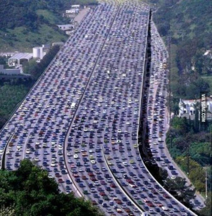 The world's longest traffic jam took place in Bejing, China, that started to form on August 14, 2010