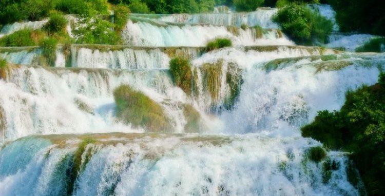 Skradinski buk Waterfall in Croatia0