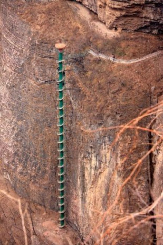 Spiral Staircase in Taihang Mountains, China