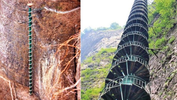 Spiral Staircase in Taihang Mountains, China7