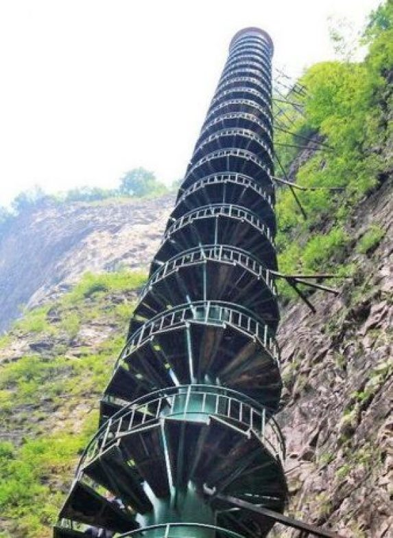 Spiral Staircase in Taihang Mountains, China8