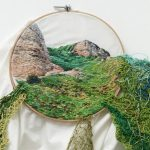 Peru Artist Uses Colorful Embroidery to Explore Natural Forms