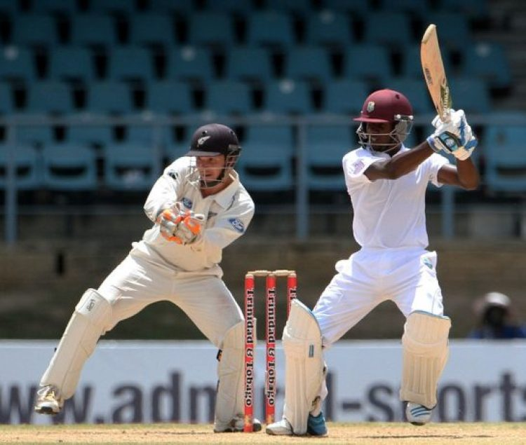Jermaine Blackwood cuts off the back foot, West Indies v New Zealand, 2nd Test, Trinidad, 3rd day, June 18, 2014 @ Getty Image