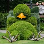 Adorable Topiary Sculpture of a Sleeping Baby Bird by Claude Ponti