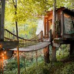 The Most Magical Luxury Tree-house Perched Among 150 Year Old Pines.