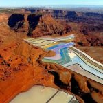 The Largest Potash Evaporation Ponds in Utah