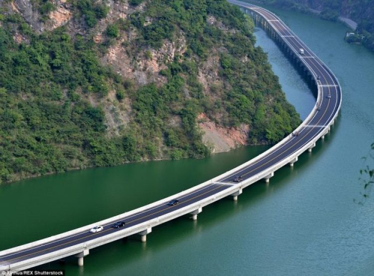 A stunning new route opened in Hubei province, central China, on August 9 called Overwater Highway