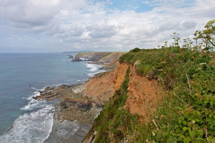 The cliffs along the Godrevy-Portreath Heritage Coast in southwest Cornwall.