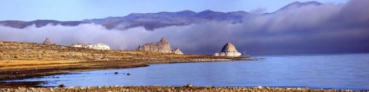 The Pyramid Lake has about 10% of the area of the Great Salt Lake, but it has about 25% more volume.