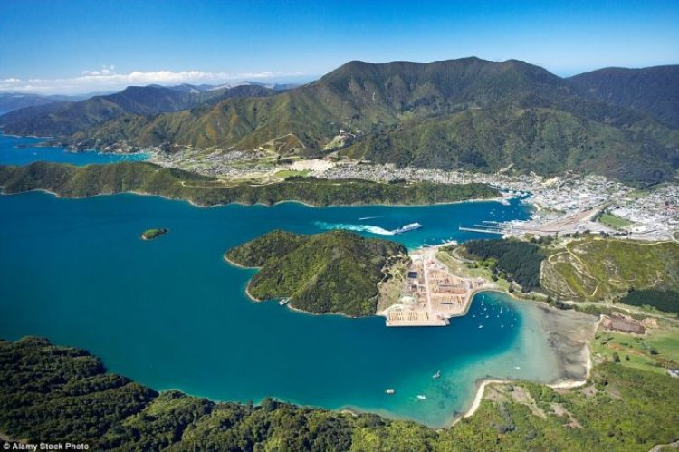Take a trip to Picton Marlborough Sounds to see the vast mountains meet the bright blue waters
