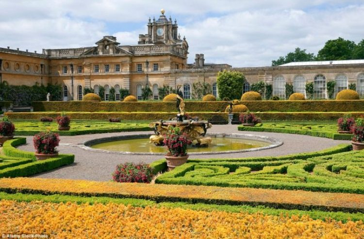 Three cheers for Capability Brown, who designed these gardens and included copper beech roundels whose golden leaves contrast vividly with the evergreens