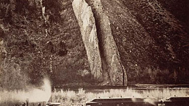 The Devil's Slide, Utah Carleton Emmons Watkins, photographer American, Utah, 1873 - 1874 Albumen