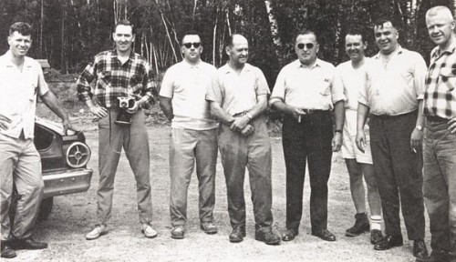 Investigation team. Stephen Michalak is fourth from the left. (source My Encounter with the UFO by Stephen Michalak.)Investigation team. Stephen Michalak is fourth from the left. (source My Encounter with the UFO by Stephen Michalak.)