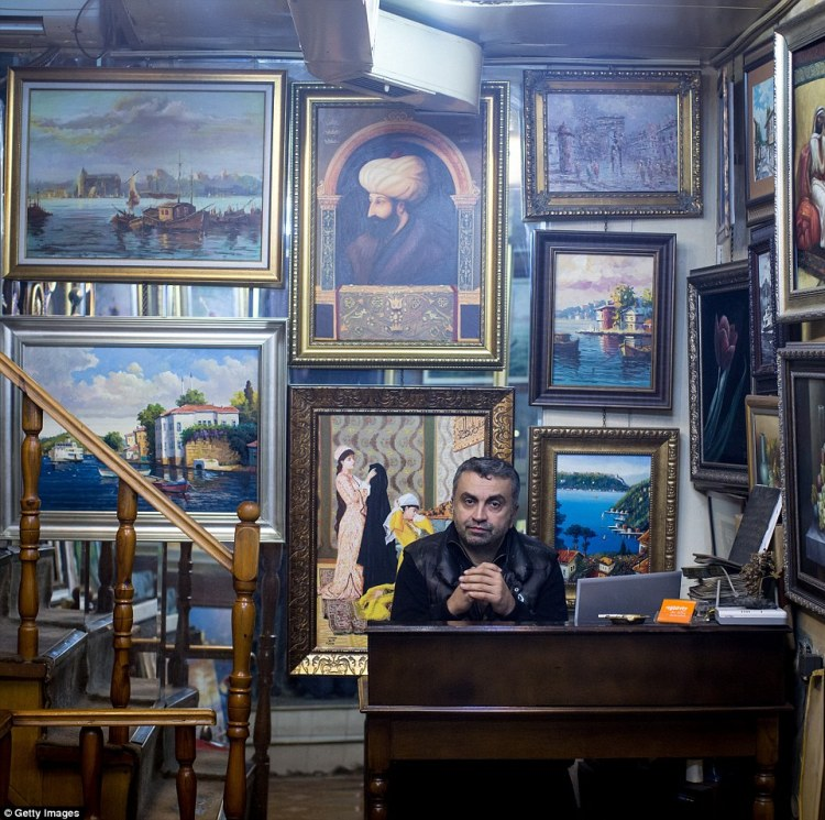Taner Erguder's shop of Sufi and traditional paintings will catch the eye of those with an artistic bent
