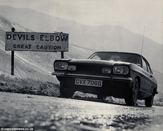 Signs warned motorists to exercise 'great caution' until The Devil's Elbow was bypassed in the 1960s
