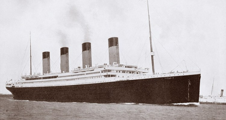 The original Titanic was the largest ship in the world when it set sail on its ill-fated maiden voyage from Southampton to New York in 1912