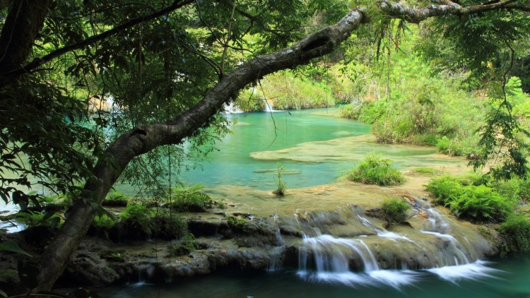 "Semuc Champey, which in the language of the Maya means ""sacred water,"" and another name for it might well be heaven."