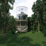Amazing Tubular Glass House Built Around Tree