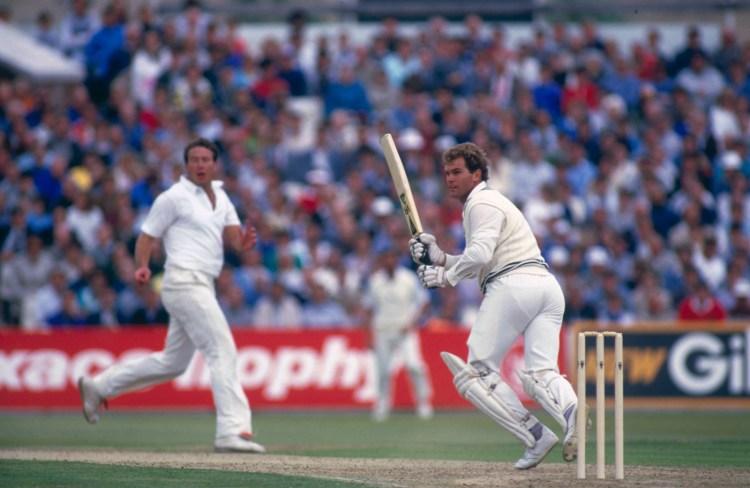 Martin Crowe bats, England v New Zealand, second ODI, Old Trafford, July 18, 1986