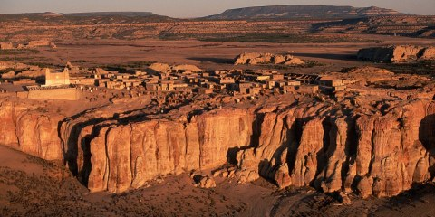 Nestled high on the top of a large cliff in New Mexico is a sleepy commune that is believed to be the oldest continuously inhabited settlement in North America