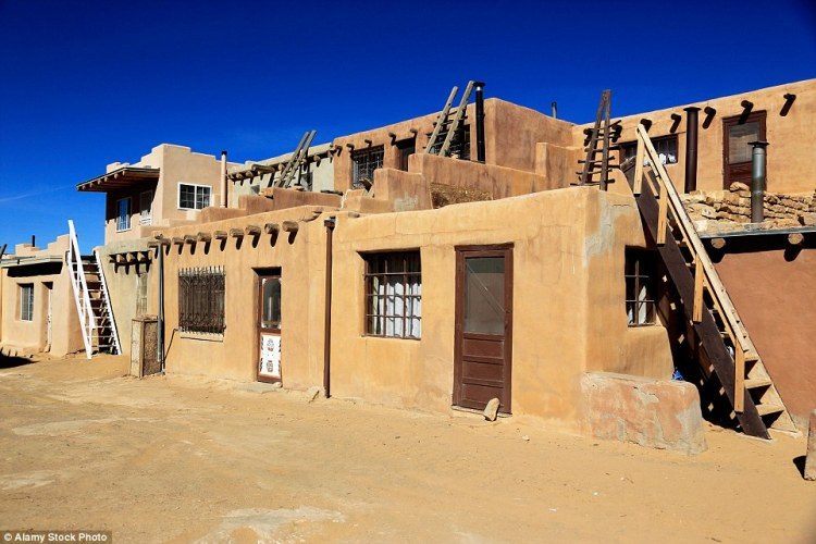 Today only 50 residents remain at Acoma Pueblo in Valencia County - but the village has a colourful past that dates back to the 12th century or earlier