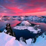 The Scared Crater Lake, Oregon United States