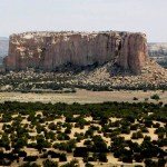Enchanted Mesa, A Sandstone Butte in New Mexico