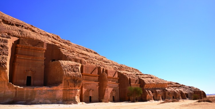 Mada'in Saleh (cities of Saleh) is a pre-Islamic archaeological site located in the Al-Ula Region of Saudi Arabia sector about 400km north-west of Madinah and 500 km south-east of Petra, Jordan.
