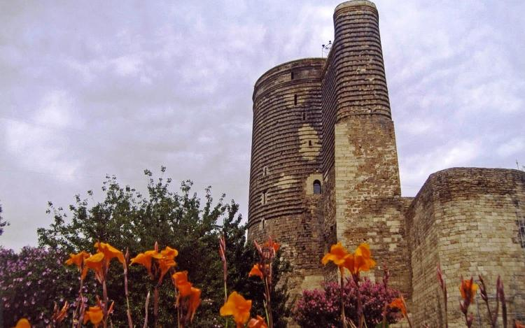 Maiden Tower in Baku, the symbol of the city