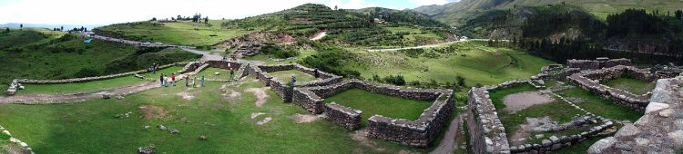 Puka Pukara is a military ruins site, located in mid-southern Peru, approximately 4 to 5 miles from Cusco on the road to Pisac and near the Antisuyo, Cusco Region.