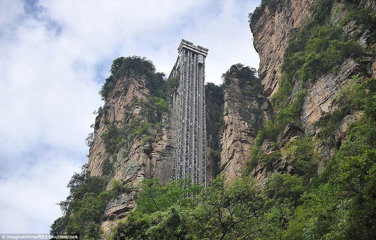 The Baillong Elevator in China from 1,000 cliff ascension to a ride through a massive aquarium is the most jaw-dropping lifts in the world.