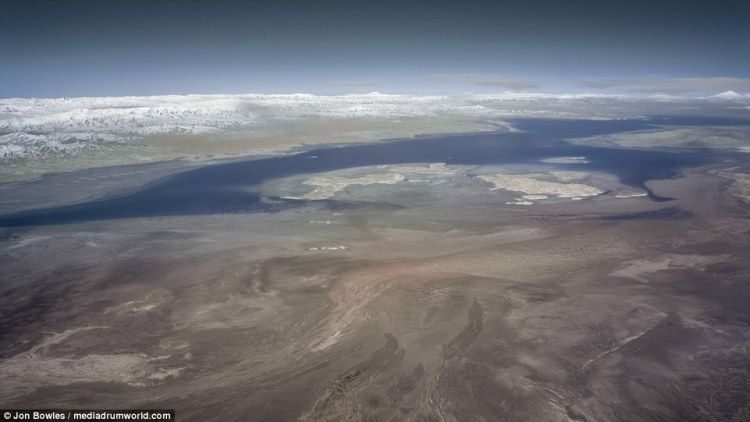 Iran's Lake Urmia, near the border with Turkey, was once the largest lake in the Middle East but has shrunk due to the damming of rivers
