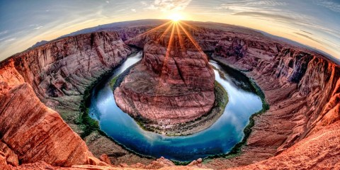 The Horseshoe Bend, Arizona, is one of the most photographed spots and now an iconic image that represents the Grand Canyon