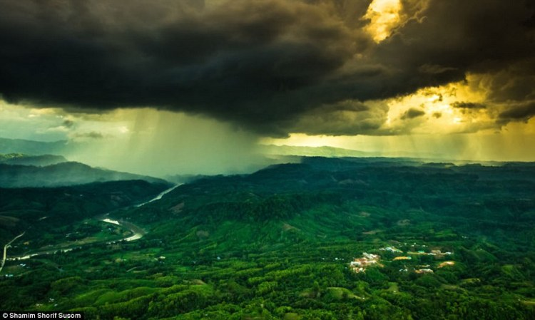 Pilot and photographer Shamim Shorif Susom snapped this incredible shot of a storm in Bangladesh's Bandarban District