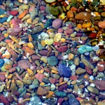 The Colored Pebbles of Lake McDonald