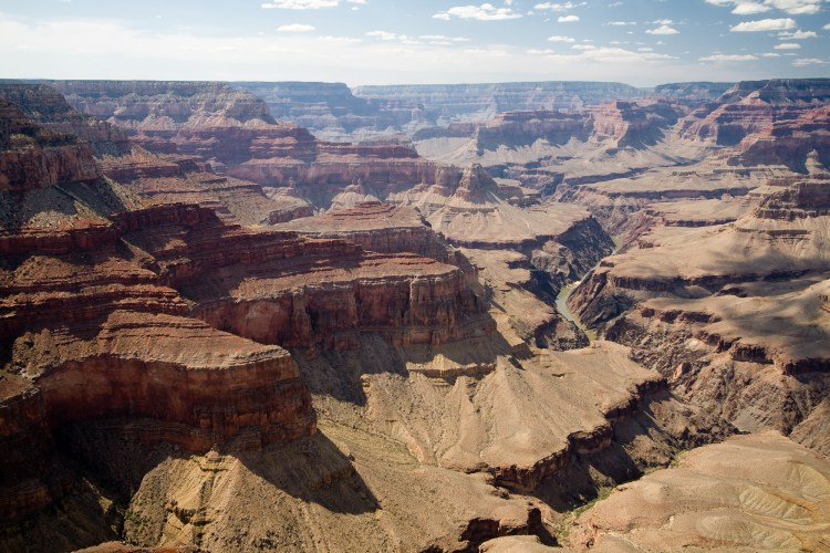 The Grand Canyon mountain ranges, most of which lie in Arizona, are one of nature's proudest displays of geological history, seen here from the Cape Royal North Rim
