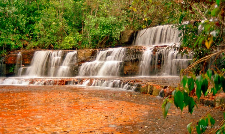 Jasper Creek is the name of a river and a series of cascades and waterfalls in the South American country of Venezuela.