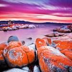 Bay of Fires, in Tasmania, Australia