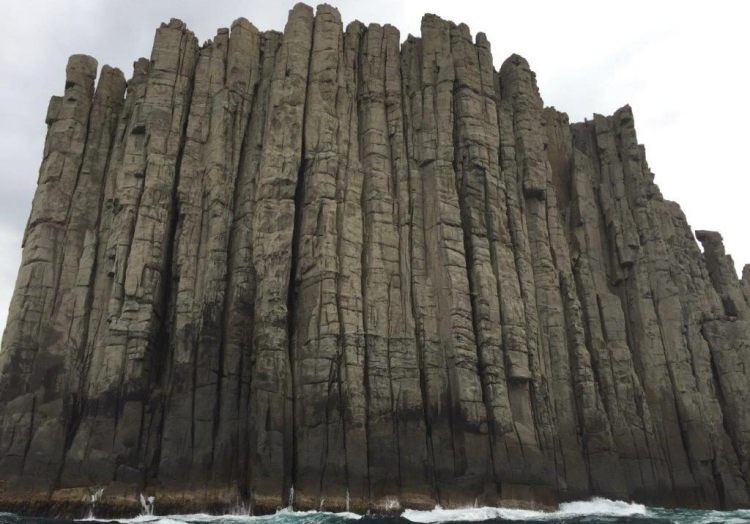 "The geologists call these rocks are ""dolerites"", due to its distinctive elongated shape and hexagonal columns."
