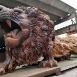 The Oriental Lion, The World's Largest Redwood Sculpture