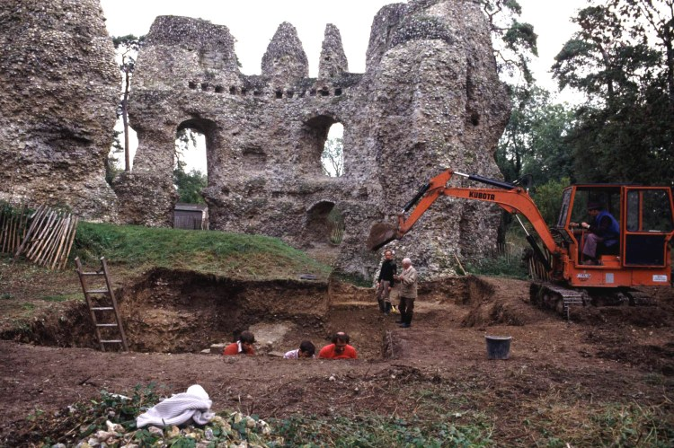 Archaeologists have worked on the site for many years, excavating finds to try to determine the castles history and the role it played throughout its years of service.