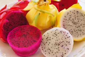 Pitaya Fruit Different Colors