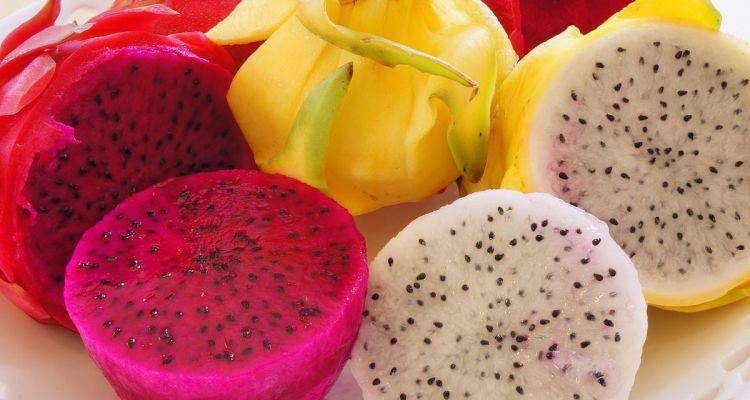 Pitaya Fruit Different Colors
