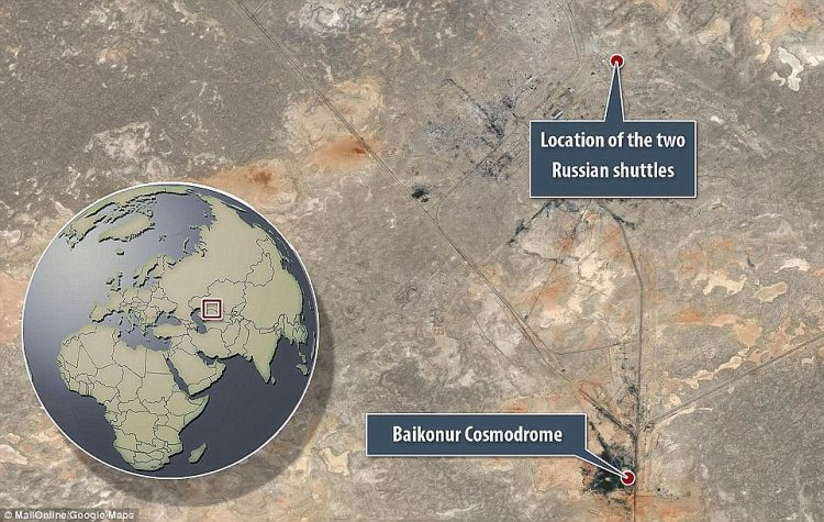 The derelict hangar that has became a graveyard for USSR spacecrafts is located near to the Baikonur Cosmodrome in Kazakhstan, which is still used to launch Soyuz rockets