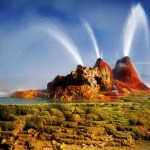 The Fly Geyser of Nevada, USA