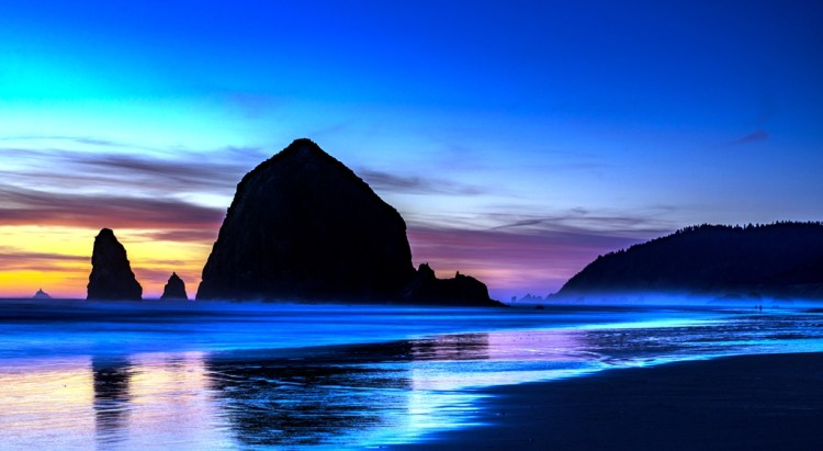 "Haystack Rock is a 235-foot sea stack in Cannon Beach, Oregon. It is sometimes claimed locally to be the third-tallest such ""intertidal"" structure in the world, but there are no official references to support this."