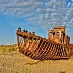 Ships Graveyard in the Desert of Moynaq, Uzbekistan