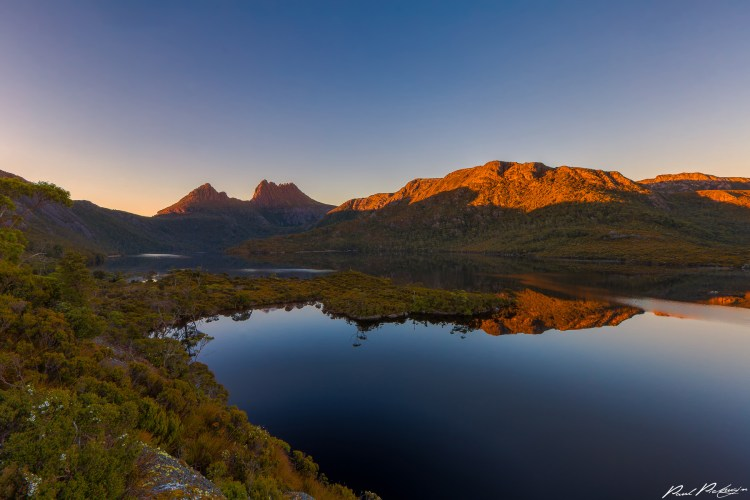 Dove Lake is a corrie lake lies in the Cradle Mountain-Lake St Clair National Park in Tasmania, Australia.